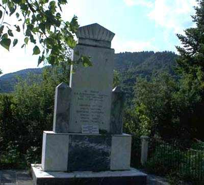 A monument at Kalarites KALARITES (Village) IOANNINA